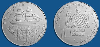 Platz 3 Münze 50 Jahre Gorch Fock