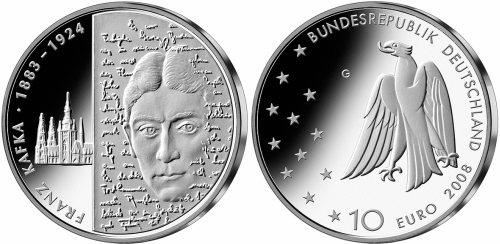 10 Euro Münze Zu Ehren Von Franz Kafka Ausgegeben