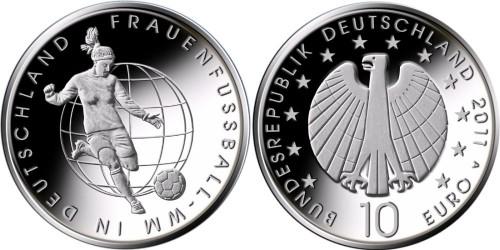 10 Euro Münze Frauenfussball-WM 2011