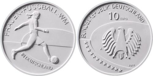 10 Euro Gedenkmünze Frauen-Fußball