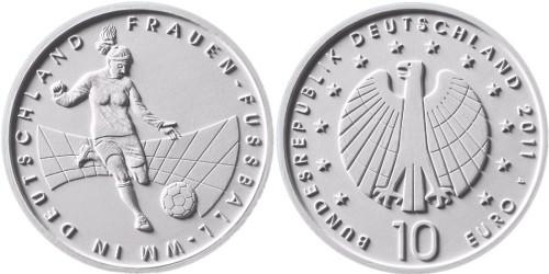 10 Euro Münze Fußball-WM 2011