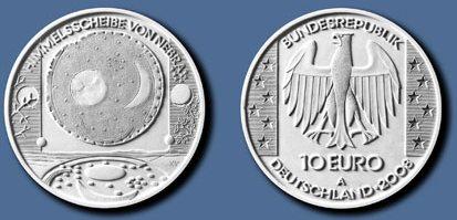 Entwurf der 10 Euro Münze Himmelsscheibe von Nebra