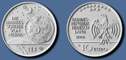 3. Platz 10 Euro Himmelsscheibe Nebra