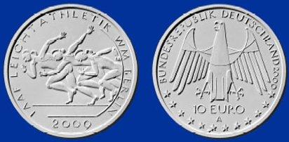 Platz 3: 10 Euro IAAF WM 2009