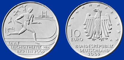 Platz 4: 10 Euro Münze Leichtathletik 2009