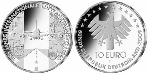 10 Euro Münze Luftfahrtausstellung 2009