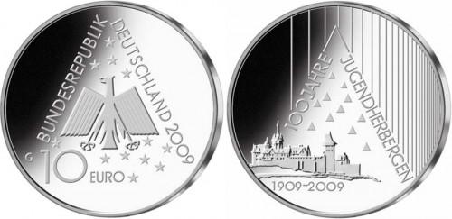 10 Euro Münze Jugendherbergen