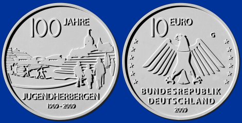 10 Euro Münze Jugendherbergen - Platz 2