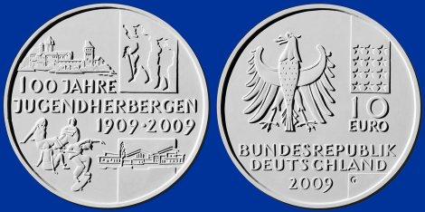 10 Euro Münze Jugendherbergen - Platz 3
