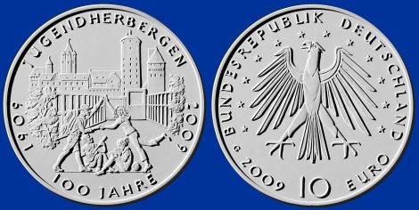 10 Euro Münze Jugendherbergen - Platz 4