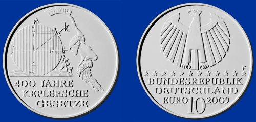 Siegerentwurf 10 Euro Münze Kepler