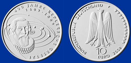 2. Platz: 10 Euro Münze Keplersche Gesetze