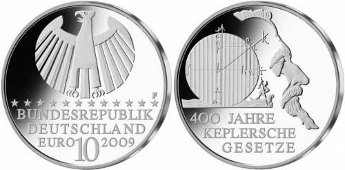 10 Euro Gedenkmünze Keplersche Gesetze