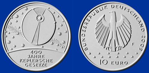 3. Platz: 10 Euro Gedenkmünze Kepler