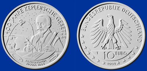 4. Platz: 10 Euro Münze Keplersche Gesetze