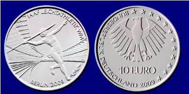 10 Euro Münze Leichtatheletik WM 2009