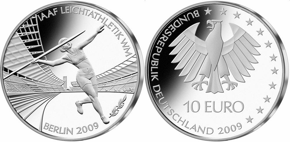 10 Euro Münze Zur Leichtathletik Wm 2009 In Berlin
