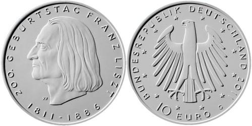 Entwurf 10 Euro Münze Franz Liszt