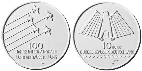 3. Platz: 10 Euro Münze Luftfahrt