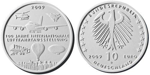 4. Platz: 10 Euro Münze Luftfahrt