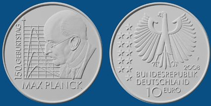 Entwurf 10 Euro Münze Max Planck