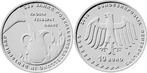 Entwurf 10 Euro Porzellanherstellung