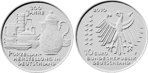 Entwurf 10 Euro Gedenkmünze Porzellan