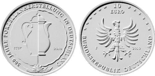 10 Euro Münze Porzellanherstellung Deutschland