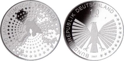 10 Euro Gedenkmünze 50 Jahre Römische Verträge