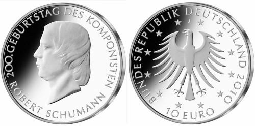 10 Euro Gedenkmünze Robert Schumann 2010