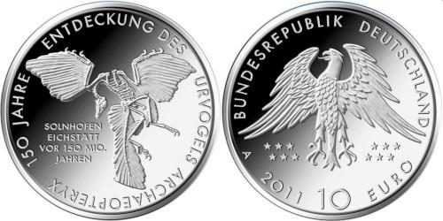 10 Euro Münze Urvogel 2011