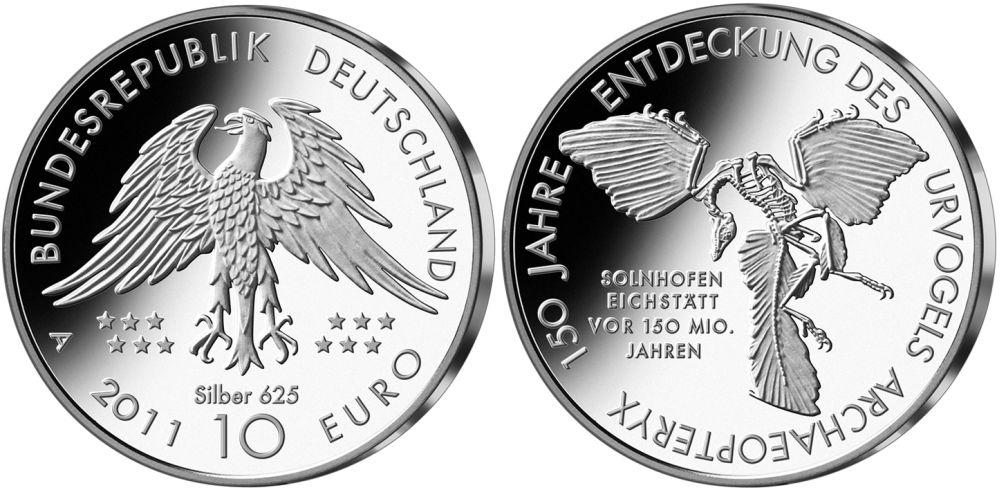 10 Euro Münze Urvogel Archaeopteryx 2011
