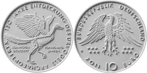 Entwürf 10 Euro Münze Urvogel 2011