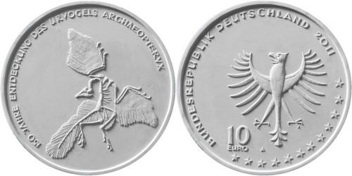 Entwurf 10 Euro Gedenkmünze Archaeopteryx