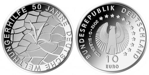 10 Euro Münze Welthungerhilfe
