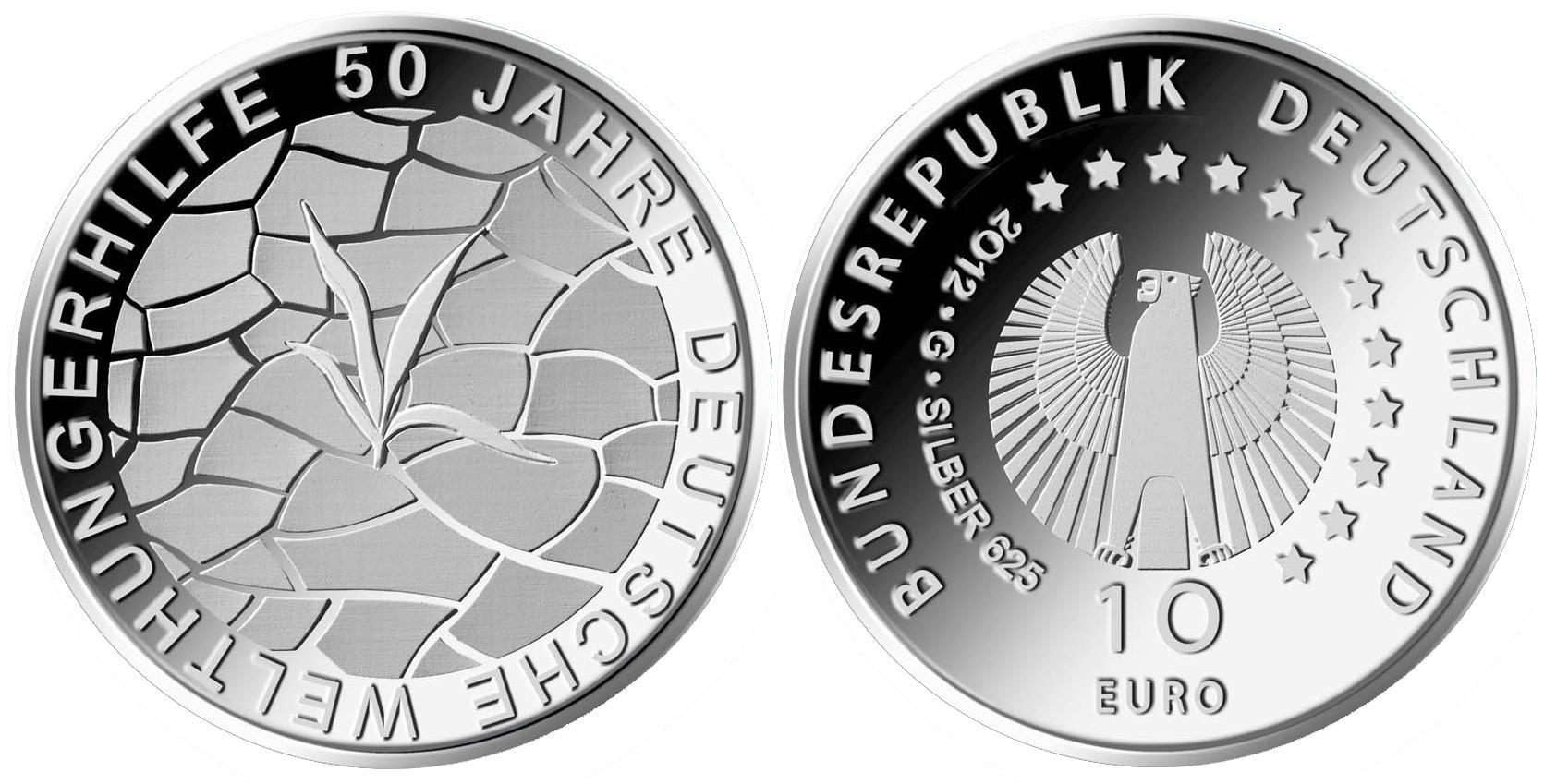Entwürfe 10 Euro Münze Deutsche Welthungerhilfe