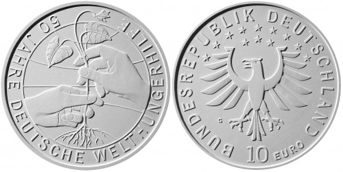3. Platz - 10 Euro Münze Welthungerhilfe
