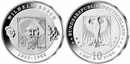 10 Euro Münze Wilhelm Busch