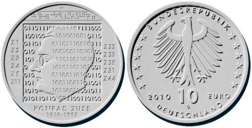 Siegerentwurf: 10 Euro Münze Konrad Zuse