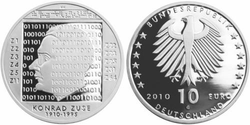 10 Euro Münze Konrad Zuse 2010
