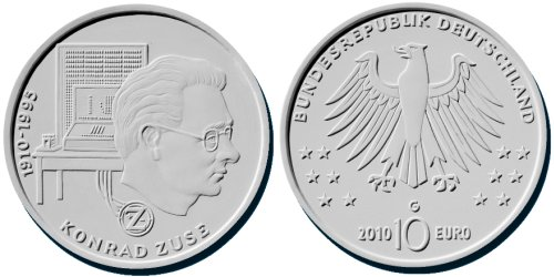 3. Platz: 10 Euro Gedenkmünze Zuse