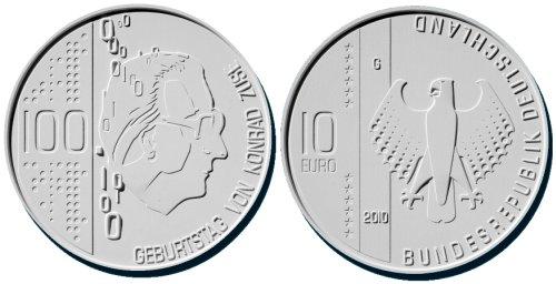 4. Platz: 10 Euro Münze Konrad Zuse