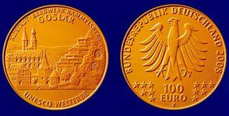 Entwurf 100 Euro Goldmünze Goslar
