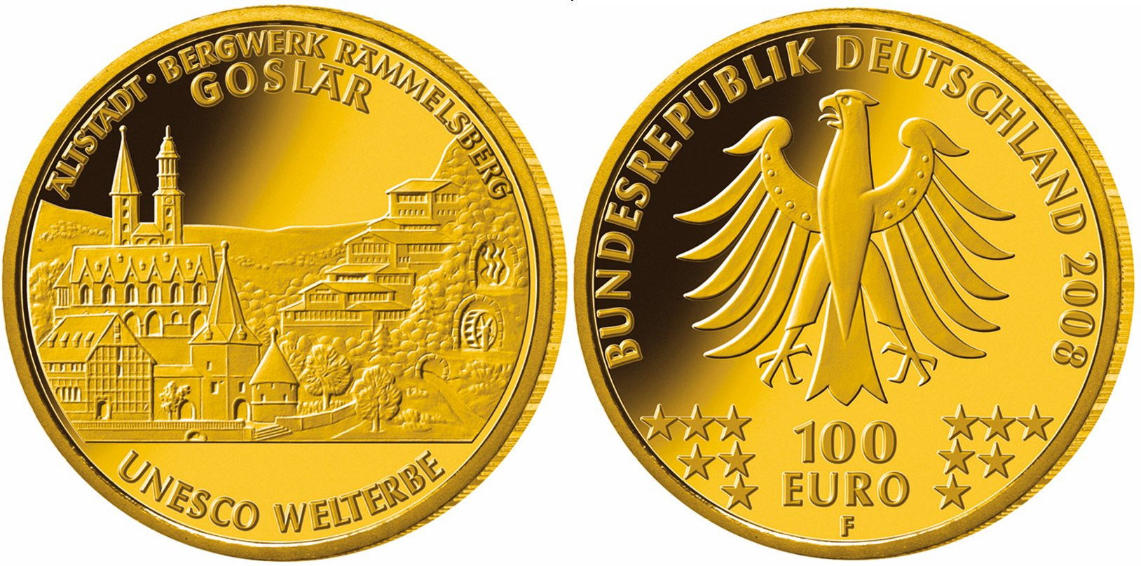 Ausgabepreis Der 100 Euro Goldmünze Goslar Festgelegt