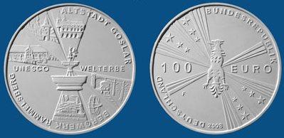 3 Platz: 100 Euro Münze Goslar