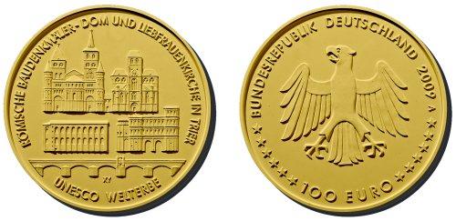 100 Euro Goldmünze Trier - Platz 2
