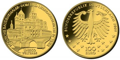 100 Euro Goldmünze Trier 2009