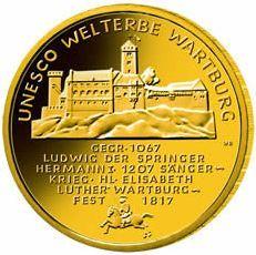 100 Euro Goldmünze Wartburg