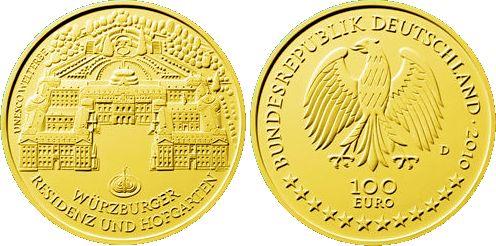 100 Euro Goldmünze Würzburg