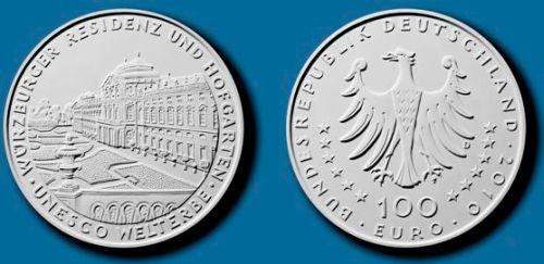 Entwurf 100 Euro Münze Deutschland 2010